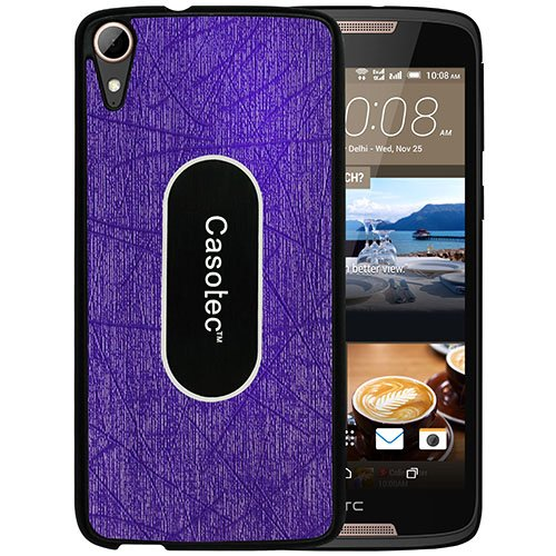 Casotec Metal Back TPU Back Case Cover for HTC Desire 828 Dual - Purple