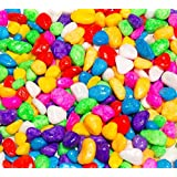 Maalavya B Size (10 to 25 MM) Colored Marble Pebbles (Multi Color, 400 Grams)