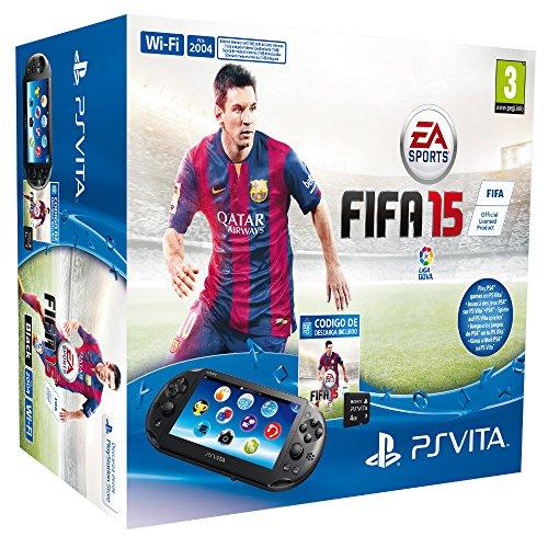 PS VITA 2000 + FIFA 15 VCH/4GB VIDEO CONSOLA PORTATIL PARA JUEGOS ALTA CALIDAD RESISTENTE DURADERA VIDEO CONSOLA (Juegos Fifa De)