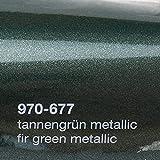 Oracal 970RA 677 TannenGrün Grün Metallic Glanz gegossene Profi Autofolie 152cm breit BLASENFREI mit Luftkanäle