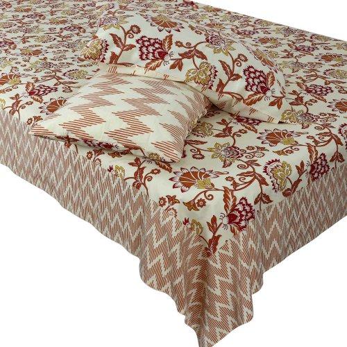 Set di decorazioni casa cotone letto lenzuola federe regina indiana