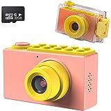 Kriogor Caméra étanche pour Enfants, 2 Pouces 10m Appareil Photo Numérique pour Enfants + 8 Mégapixels + Couverture étanche +