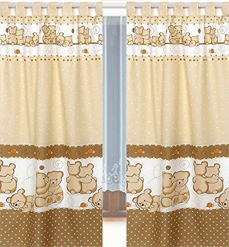 Tab Top Curtains & Tiebacks for Baby Nursery Children's Bedroom #9
