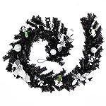 WeRChristmas - Ghirlanda natalizia decorativa, 180 cm, colore nero/argento
