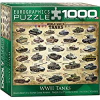 Eurographics 8 x 8-inch Box WWII Tanks (Horizontal) MO Puzzle (1000 Pieces)