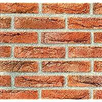 D-C-Fix (vinilo autoadhesivo película) piedra ladrillo rojo 45cm x 2m 346–0221