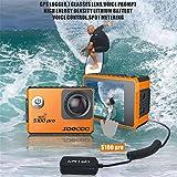 ZYX Wifi Action Kamera Ultra 4K 24FPS Wifi Touchscreen 30M LCD-Bildschirm Wasserdicht DV Camcorder Video Cam Eingebauter Gyro mit GPS-Erweiterung Sport Kamera Montage Kits,Black