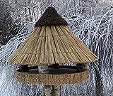 Vogelfutterhaus mit Reetdach 'Riesen - Heidehütte'
