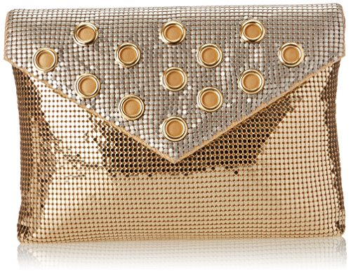 whiting-davis-metal-mesh-grommet-flap-envelope-clutch-gold-matte-silver-one-size