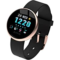 MYPIN Smartwatch Uomo Orologio Fitness , Impermeabile IP68, Cardiofrequenzimetro da Polso, Tracciamento Attività per…