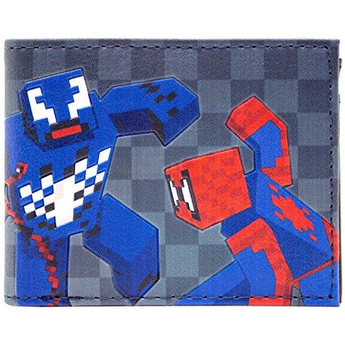 Marvel Spider-Man 8-Bit-Stil Mehrfarbig Portemonnaie Geldbörse