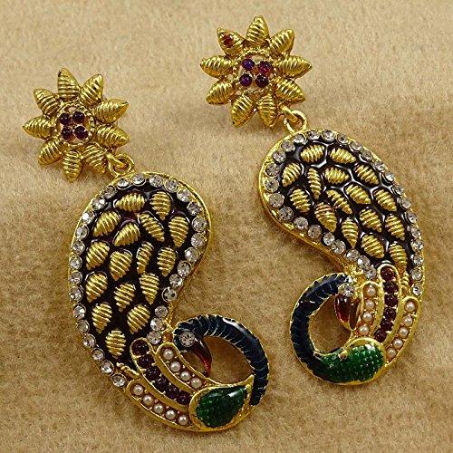 Banithani Traditionnelle Indienne Balancent Boucle D'Oreille Coffret Cadeau Bollywood De Bijoux Pour Elle or