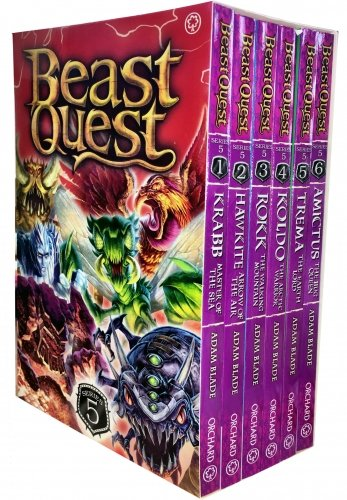 Beast Quest Pack: Series 5, 6 books, RRP 29.94 (Amictus The Bug Queen, Koldo...