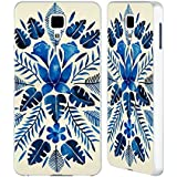 Official Cat Coquillette Navy Tropical Symmetry Nature Silver Aluminium Bumper Slider Case for Xiaomi Mi 4