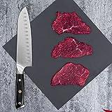 Mascot XM Santokumesser Küchenmesser Japanisches Kochmesser Sushi Messer 17CM Hohle Schneide Geschmiedetes Messer Deutscher HC Edelstahl mit Ergonomischem Griff für Haus und Restaurant - 6