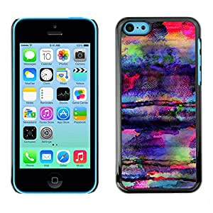 Omega Covers - Snap on Hard Back Case Cover Shell FOR Apple iPhone 5C - Art Colors Psychedelic Mushrooms