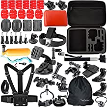 Togetherone 46 IN 1 Macchina Fotografica Accessori Kit per Gopro Hero 4 Session, Gopro Hero 4 Silver, Gopro Hero 4 Black,Gopro Hero 4 3+ 3 2 1 SJ4000 SJ5000 SJ6000