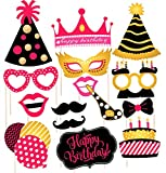 Discount Retail Hand Made Photo Booth Props for Birthday Party (15 Pieces)