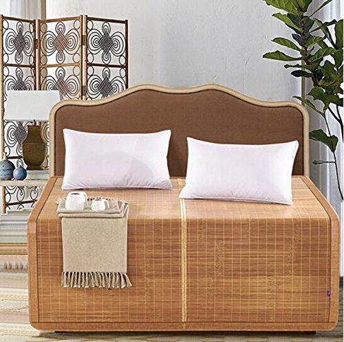 Coole Matratze Heimtextilien können gefaltet werden Liangxi 1.8 doppelseitige Liangxi Bambus Sitze 1,5 Meter Studenten rutschige Matten carbonized 4.0 + 4.0 Paare von poliertem Licht 180 * 200cm Coole Bambusmatte ( größe : 180*200cm )