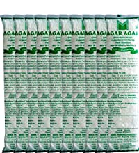 Mira Marine Product Agar Agar China Grass Strips Color :White,Per Pack Of Weight: 10Gm,Pack Of 20