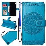 EUWLY Leder Schutzhülle für [Sony Xperia XA1 Ultra], Schön Retro Brieftasche Hülle Leder Tasche...