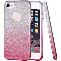 iPhone 7caso hanlesi farbverlauf lucide su [Pling chiara] [Slim Fit] brillano 3strato Hybrid con TPU–Custodia Trasparenti per Apple iPhone 7