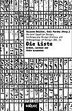 Die Liste. Ordnungen von Dingen und Menschen in Ägypten (Kaleidogramme, Band 115) - Susanne Deicher (Hg.), Erik Maroko (Hg.)
