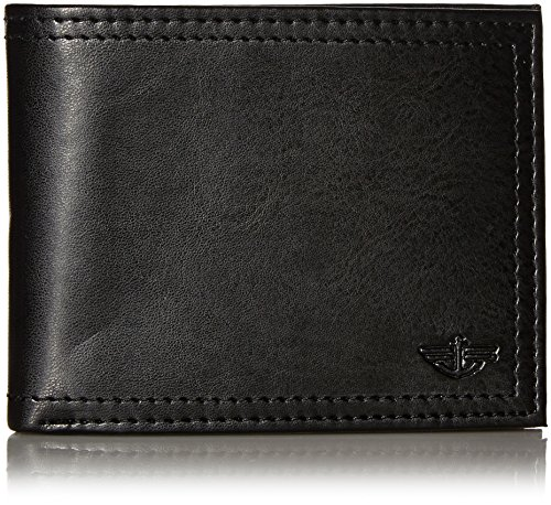 dockers-mens-extra-capacity-slimfold-leather-wallet-black-one-size