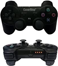 coverstop® JOYSTICK JOYPAD coverstop WIRELESS SENZA FILO COMPATIBILE PS3 PER PLAYSTATION 3 CONTROLLER NERO BLUETOOTH