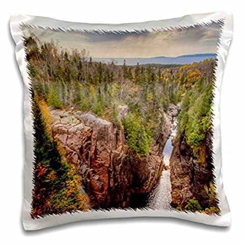 Danita Delimont - Rivers - North America, Canada, Ontario, Terrace Bay, Aguasabon Gorge. - 16x16 inch Pillow Case (pc_206126_1)