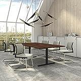 Weber Büro EASY Konferenztisch 240x120 cm Nussbaum mit ELEKTRIFIZIERUNG Besprechungstisch Tisch, Gestellfarbe:Anthrazit
