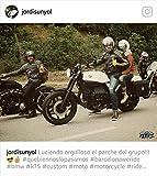 Retro Schwarz Cafe Racer dieBonnie 100% Bovine Leder Motorrad-Jacke CE Armoured–Elfenbein Streifen Gr. xl, Schwarz - Schwarz