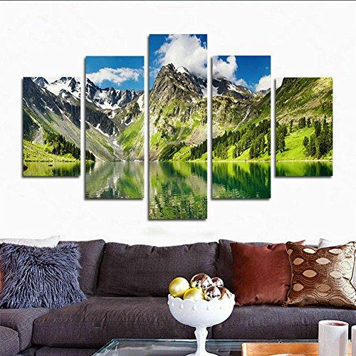 SwmArt 5 Einheiten wälder und wasserfälle Moderne Wohnkultur Wand Leinwand HD foto druck auf leinwand malerei ölgemälde(60
