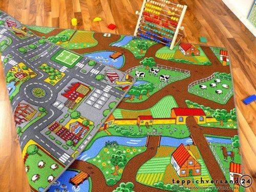 Straßenteppich Beidseitig mit zwei Straßenlandschaften in 4 Größen ab EUR 39,90 - 4