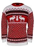 Herren 's XMas Neuheit Gestrickt Weihnachten Rentier Pullover Jumper (jmj-0005) Gr. X-Large, Rot