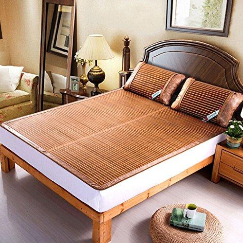 DUAN GUO FENG Bambus-Schlafmatten Einzel-und Doppel-Seiten der Matte kann gefaltet Werden Studenten Bambus-Matte (Multi-Size optional) (größe : 150 * 195cm)