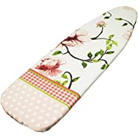 Encasa Homes Ironing Board Cover with 4mm Extra Thick Felt Pad for Steam Press - ATL - (Fits Standard Medium Boards of 112 x 33 cm) Elastic Fitting, Heat Reflective, Protective