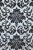 Vlies Tapete Barock Muster Ornament schwarz silber grau metallic 13519-60