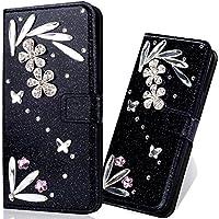 Preisvergleich für iPhone X Glitzer Hülle,iPhone X Leder Hülle,Schutzhülle für iPhone X Leder Wallet Tasche Brieftasche Flip Schutz...