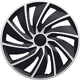 Autostyle Pp 5305sb Satz Radzierblenden Livorno 15 Zoll Silber Schwarz Karbon Look Auto