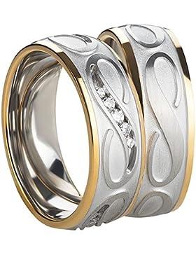 Freundschaftsringe - Partnerringe - Verlobungsringe - Trauringe - Hochzeitsringe - Eheringe aus Edelstahl in gold...