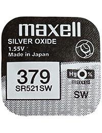 Pila maxell de Boton oxido Plata 379 SR521SW, Cablepelado®