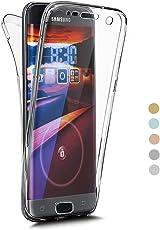 Galaxy S7 Hülle 360 Grad Handyhülle für Samsung Galaxy S7, Coollee Ultra Slim Silikon Transparent TPU Weich Full Cover Vorne Hinten Rundum 360° Doppel-Schutz Schutzhülle Handytasche Dünn Durchsichtig Motiv Ganzkörper Schale Etui Handy-Tasche Soft Case Skin Crystal Clear Displayschutz Rückseite Backcover Bumper Hüllen für Samsung Galaxy S7 (Klar Weiß)