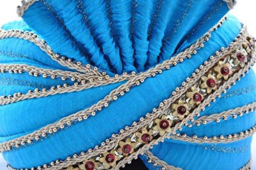 Egypt Bazar Indischer Maharaja-Turban- Paghdi Herren Fasching Bollywood Kopfbedeckung, Farbe: ()