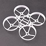 Indoor Brushless durch Vier-Achsen-Rack - Tiny 75mm Mikro Whoop Rahmen 8pcs 40mm 3-Blatt Propeller und 1 Stück Requisiten Removal Tool für 0703 Brushless Motoren DIY Micro FPV Quadcopter