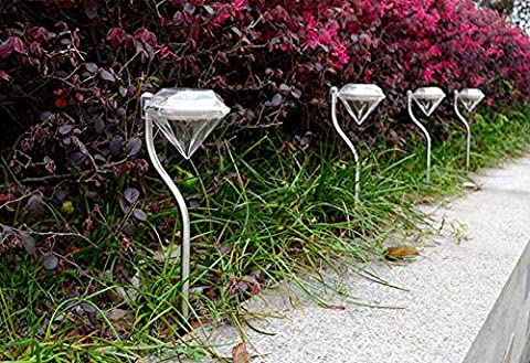 Lanlan Path Wand Landschaft Mount Zaun Lampe Outdoor Farbwechsel Solar Power LED Diamond Garden Light