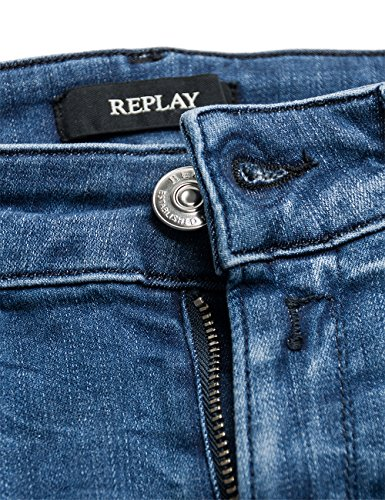 Replay Luz, Skinny Jeans Femme blue