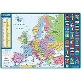 Grupo Erik Editores TSEH029 - Vade escolar con diseño mapa de Europa