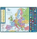 Grupo Erik Editores TSEH029Carte d'école avec motif carte de l'Europe...