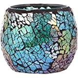 Segolike Stylish Crackle Pattern Mosaic Glass Candle Tea Light Holder Home Room Desk Table Christmas Valentine's Day Decor Gift #2